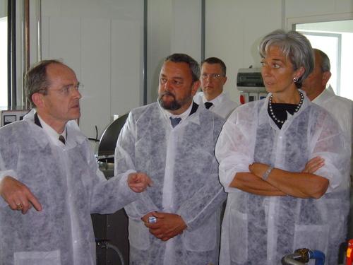 Christine Lagarde, min. déléguée au commerce extérieur